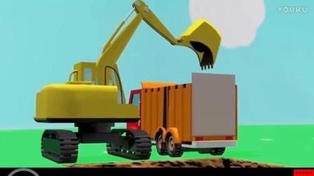 【工程车玩具视频】组装工程汽车 挖掘机搅拌车等等