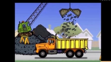 大卡车 挖掘机视频表演大全 儿童工程车表演动画片