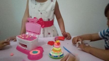 亲子游戏diy蛋糕制作视频 快乐宝贝 亲子玩具