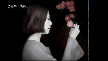 【古典油画】《手拿蔷薇的女孩》创作过程与视频——上集