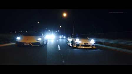 超跑车队夜间集合