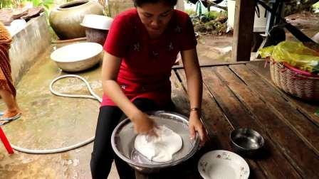[ 柬埔寨大自然厨房 ] 自制传统米碗蛋糕