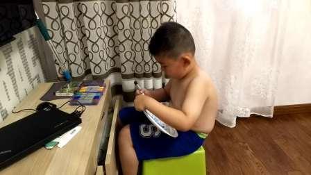【6岁】6-27哈哈自己在盘子上作画,兴趣不错video_183035