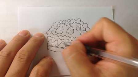 生日蛋糕-简笔画各种蛋糕的画法8