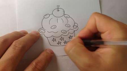 生日蛋糕-简笔画各种蛋糕的画法20