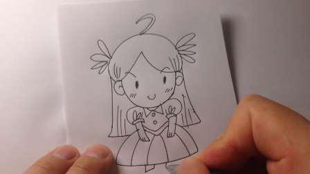 儿童卡通.可爱小女孩简笔画