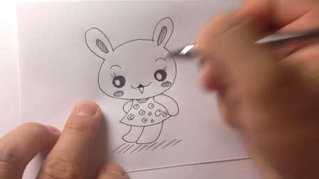 儿童卡通.小兔子简笔画