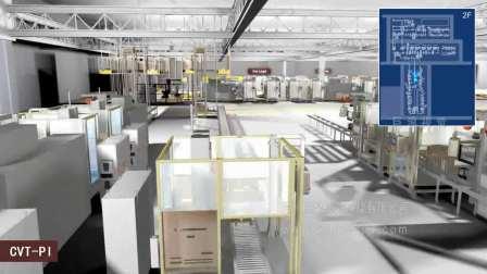 巨浪视觉 汽车生产线动画 厂房车间三维动画 上海通用CVT规划动画
