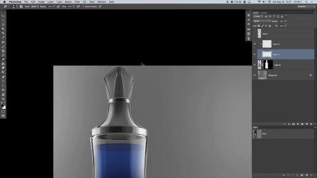 Photoshop手绘渲染玻璃香水瓶设计效果