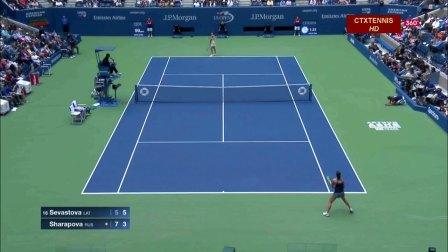 2017美国网球公开赛女单R4 莎拉波娃VS塞瓦斯托娃 (自制HL)