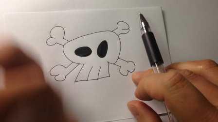 万圣节实用简笔画.骷髅的画法