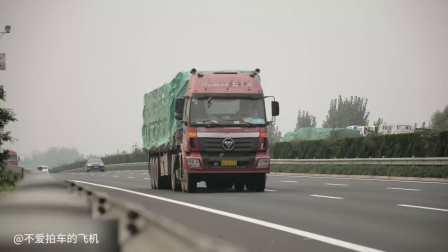 中国高速公路日常 卡车 高速公路上的货车 卡车