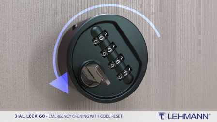 Dial Lock 60 - 紧急开锁并重置密码