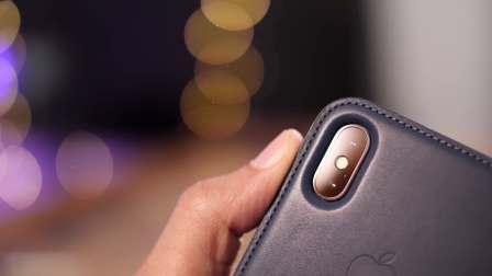 iPhone X皮革保护夹,不错~