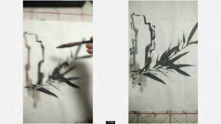 任福斌微信国画课 --- 竹子的画法(三)