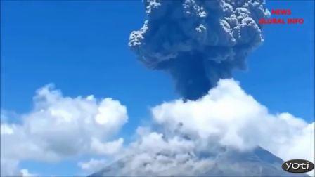实拍火山爆发合集