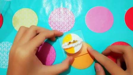粘土制作 香橙慕斯蛋糕