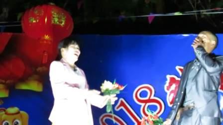 广西贵港蒙公2018外龙送春节联欢晚会  壮话山歌《情歌对唱》