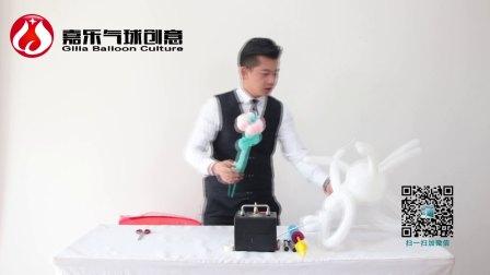 气球教程之街卖造型背带兔子