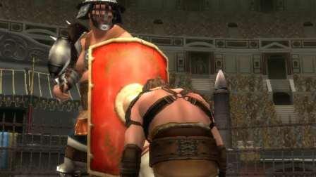 狮子录制 PS2 角斗士自由之路 主角投降后被胖子处决