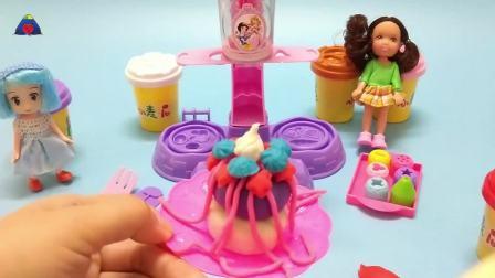 灵犀小乐园之美食小能手 芭比娃娃制作星型蛋糕 芭比娃娃制作星型蛋糕