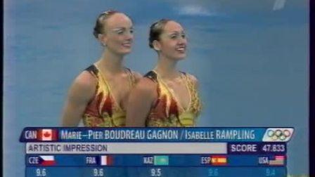 2008奥运会花样游泳双人自由自选