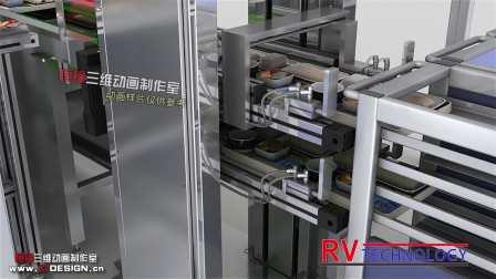 精镒科技物流自动化与航空送餐自动化动画