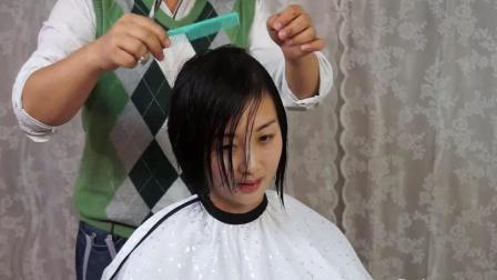 青春14之川渝美女剪长发为bob头