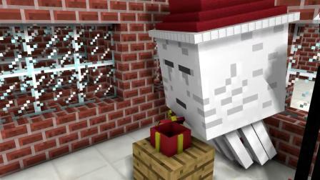 我的世界动画-怪物学院-圣诞节礼物-PlataBush