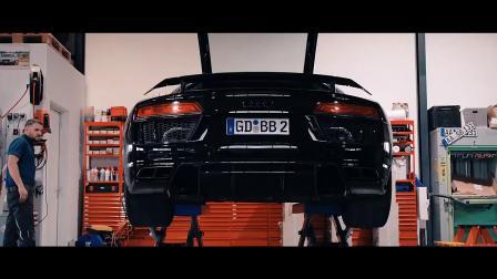 奥迪R8 V10 Plus 改装ARMYTRIX钛合金排气 炸出高亢F1声浪🤟
