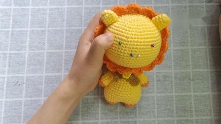 雨宝妈手作第12集大头玩偶之-小狮子编织教程怎么编图解视频