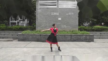 贺伦玉广场舞(为你等待)编舞:韦福强