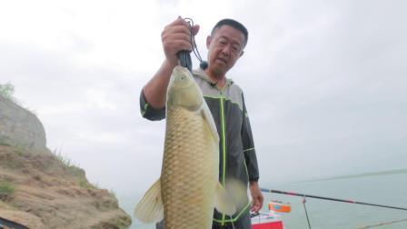 钓友相邀前往雪野湖的第一次下竿  看大毛老师钓上的第一尾鱼