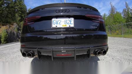19款奥迪A4 B9 改装Armytrix中尾段阀门排气+不带三元头段 轻松炸街