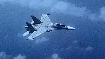 委内瑞拉空军Su-30战机于加勒比海上空拦截美军EP-3电子侦察机