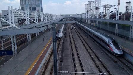 G826(深圳北—西安北)本务广铁广九段,搭载CR400AF型重联车底,高速通过广州北站
