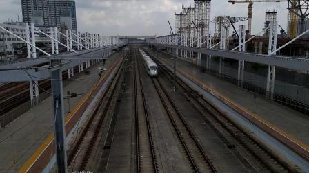 G6156(珠海—怀化南)本务广铁长沙段,搭载CRH380B统型车底,高速通过广州北站