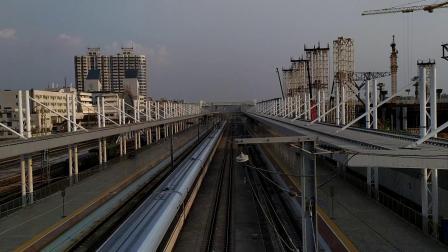 G1015(武汉—深圳北)本务广铁广九段,搭载CRH380AL型车底,高速通过广州北站
