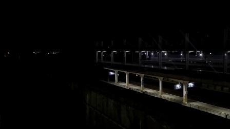 G1311(重庆北—深圳北)本务广铁广九段,搭载CR400AF型重联车底,高速通过广州北站