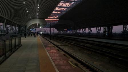 G6163(怀化南—深圳坪山)本务广铁广九段,搭载CR400AF型重联车底,高速通过庆盛站
