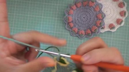 花朵杯垫 森妈手工diy 新手钩针编织