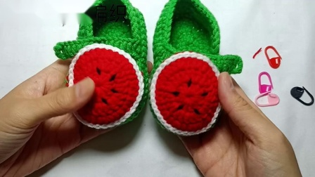 【婷婷编织】第119集   小西瓜宝宝鞋的钩织教程
