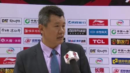赛后采访-天津主教练刘铁:感谢球迷和球员,我们最终赢在团结 CBA 19/20赛季 第7轮 天津先行者VS四川五粮金樽 1