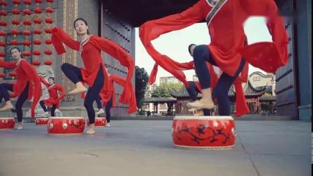 【中国舞】单色舞蹈水袖鼓舞《子矜》