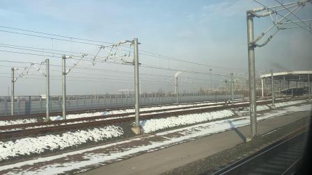 G6济南西站进站(左侧车窗)