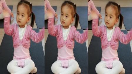 幼儿舞蹈《你笑起来真好看》演示:小柚子
