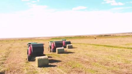 官宣视频,优牧达1.4D圆草捆打捆机,场面巨制