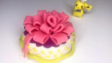 欢乐多彩泥 小公主苏菲亚最爱的粉红丝带蛋糕