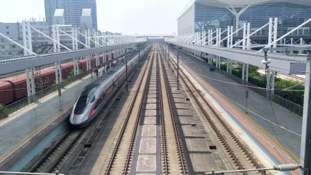 2020年9月1日,G6029次(岳阳东站-深圳北站)本务广州动车段CR400AF-2022+2054广州北站进站,G9682次(广州南站-长沙南站)通过