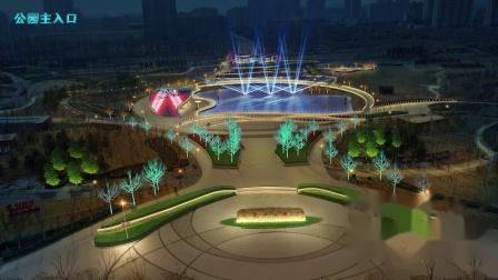 忻州市遗山公园_广州氢氦照明设计有限公司作品